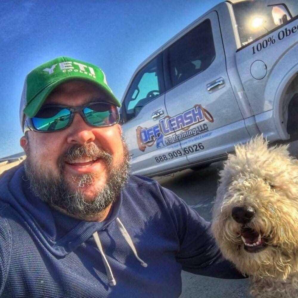 Josh Wilson with the Dog